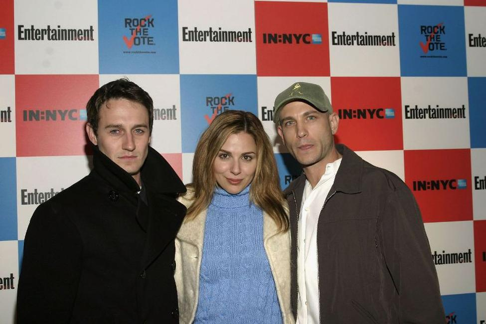 Josh Stewart, Cara Buono and Guest at the Pre-Election Bash hosted by Entertainment Weekly And Rock The Vote.