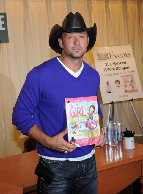 Tim McGraw at the book launch of