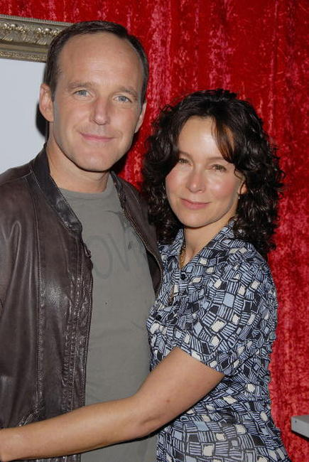 Jennifer Grey and her husband Clark Gregg at the celebration for