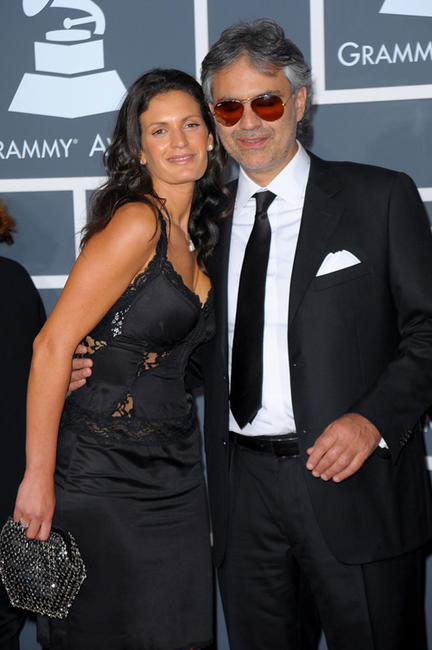 Andrea Bocelli and Guest at the 52nd Annual GRAMMY Awards in California.