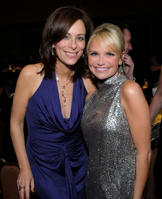 Jane Kaczmarek and Kristin Chenoweth at the 10th Annual Costume Designers Guild Awards.