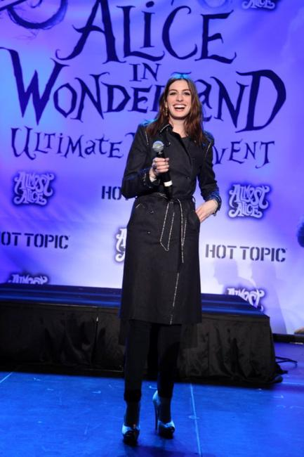 Anne Hathaway at the Alice In Wonderland Ultimate Fan Event.