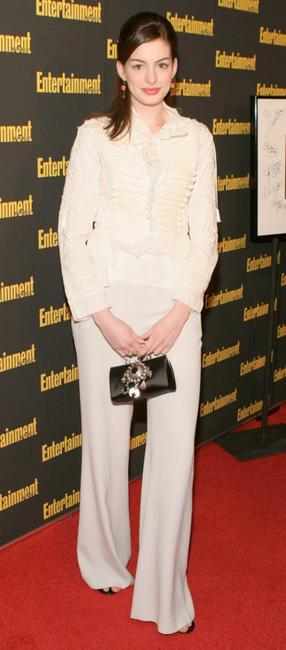 Anne Hathaway at the Entertainment Weekly's Oscar Viewing party.