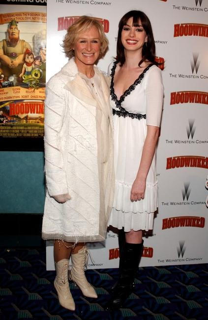 Glenn Close and Anne Hathaway at the premiere of