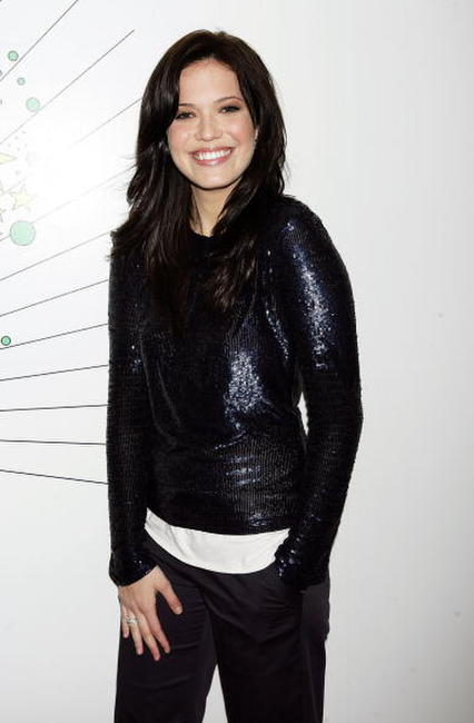 Actress Mandy Moore backstage during MTV's Total Request Live in N.Y.