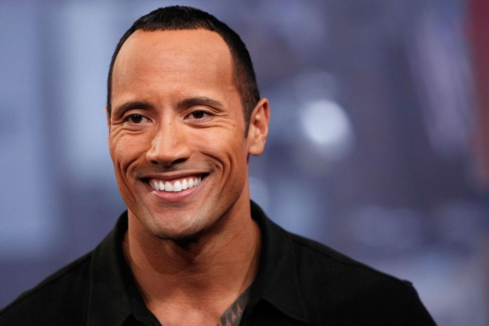 The Rock at the MTV's Total Request Live.