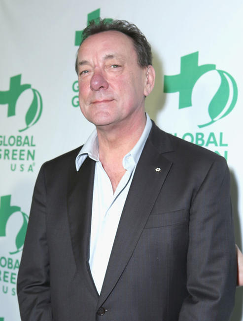 Neil Peart at the Global Green USA's 10th Annual Pre-Oscar party in California.