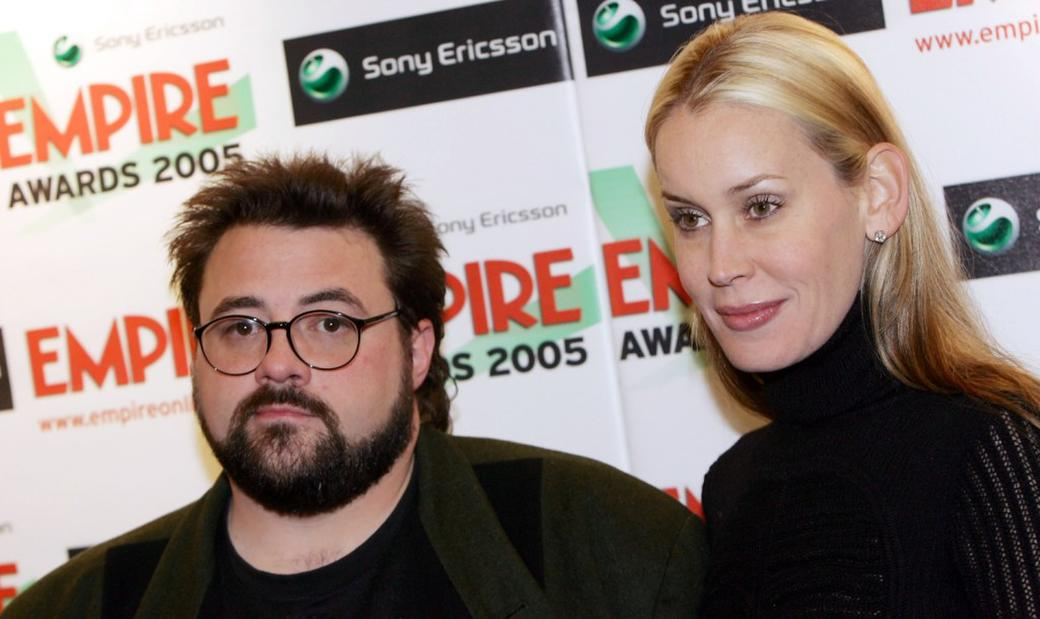 Kevin Smith and Jennifer Schwalbach Smith at the Sony Ericsson Empire Film Awards.