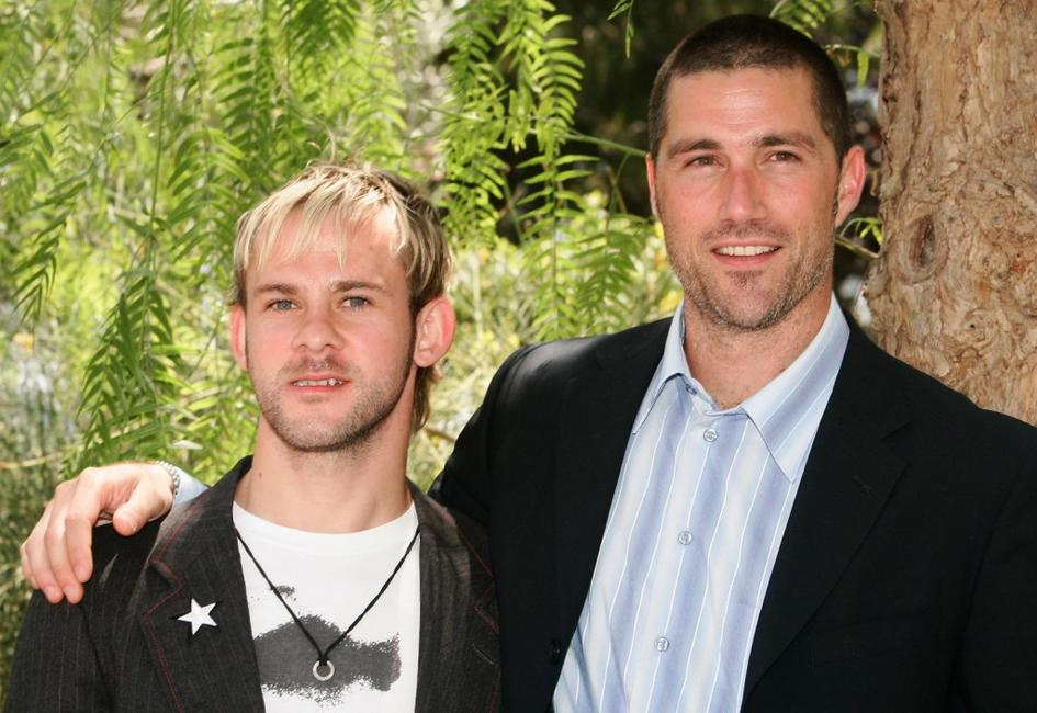 Dominic Monaghan and Matthew Fox at the 45th Television Festival of Monte Carlo.