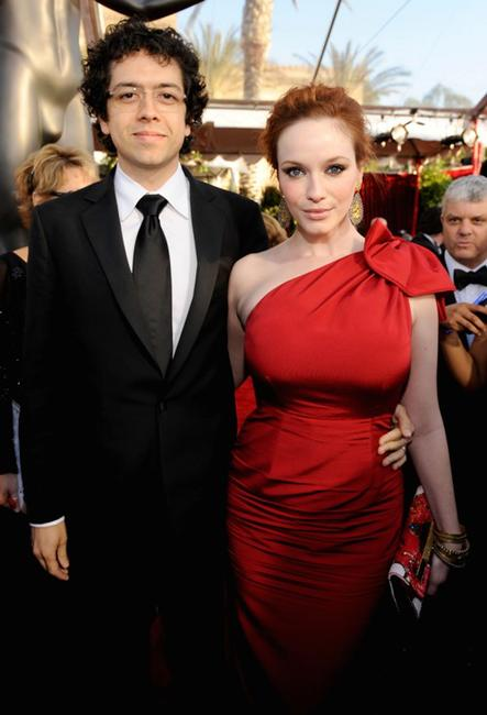 Geoffrey Arend and Christina Hendricks at the 16th Annual Screen Actors Guild Awards.