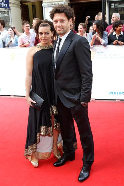 Richard Coyle and Guest at the Philips British Academy Television Awards.