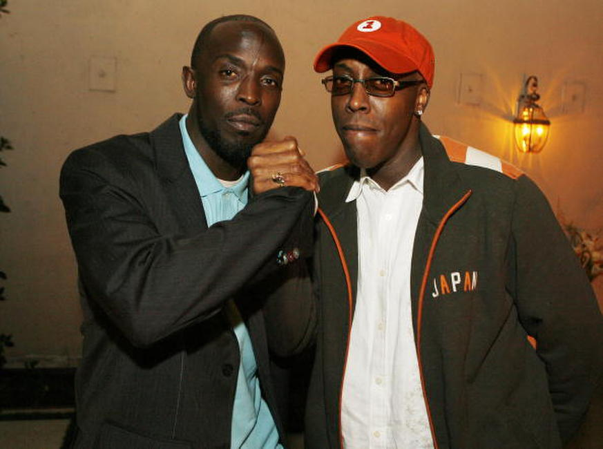 Arsenio Hall and Michael Kenneth Williams at the afterparty for the premiere of