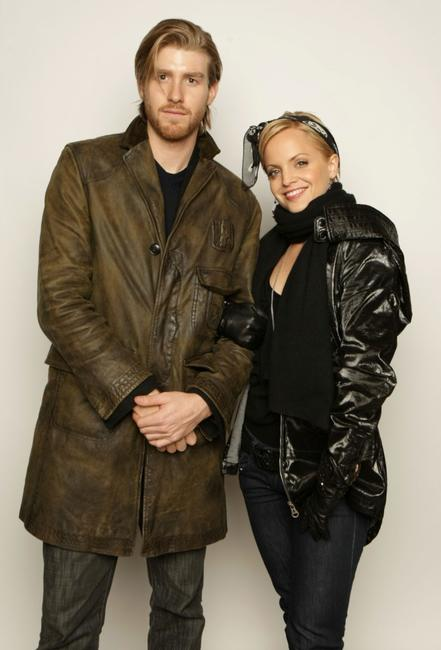 Jon Foster and Mena Suvari at the 2008 Sundance Film Festival.
