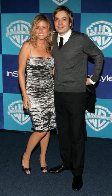Nancy Juvonen and Jimmy Fallon at the Warner Bros./InStyle Golden Globe after party.