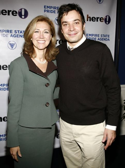 Silda Wall and Jimmy Fallon at the Empire State Pride Agenda's 15th Annual Fall Dinner.