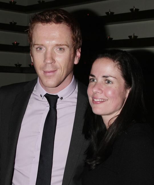 Damian Lewis and Katherine Pope at the premiere of