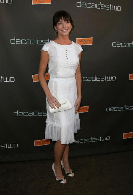 Alyson Hannigan at the decadestwo grand re-opening celebration.
