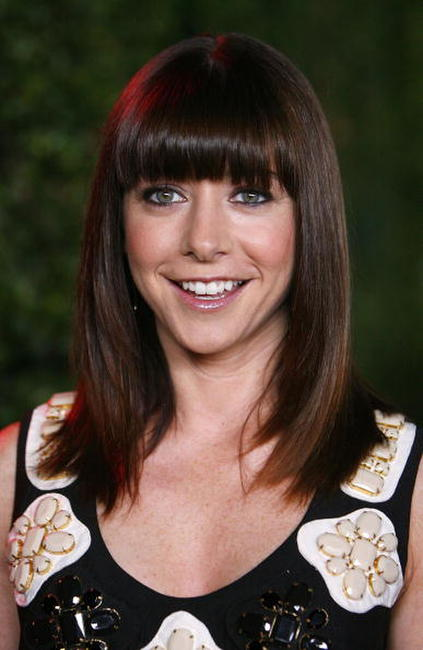 Alyson Hannigan at the CBS celebration of Monday night season premieres.