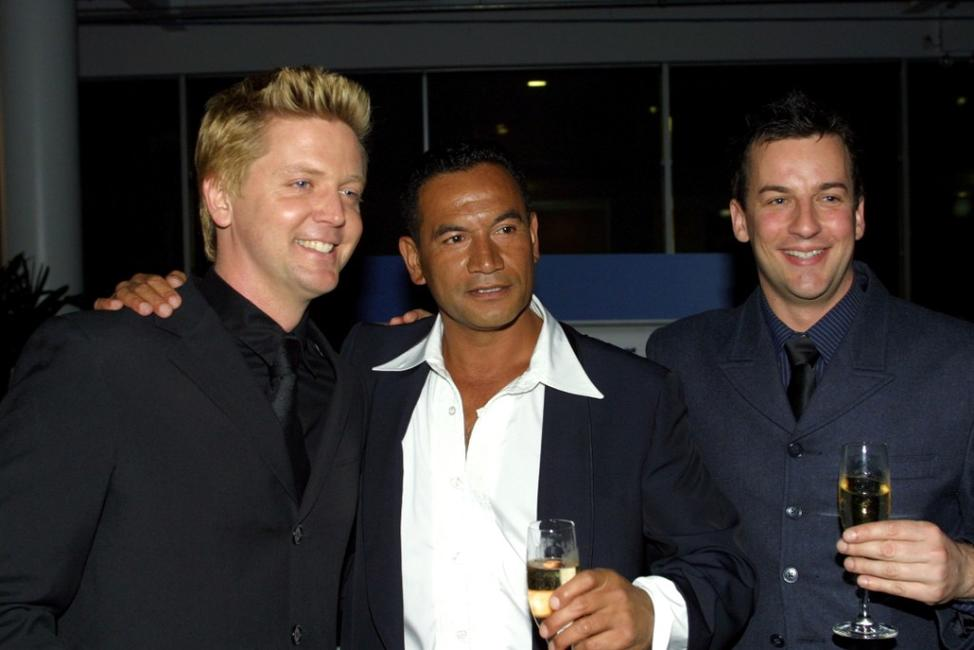 Michael Galvin, Temuera Morrison and Craig Parker at the Fire and Ice ball.