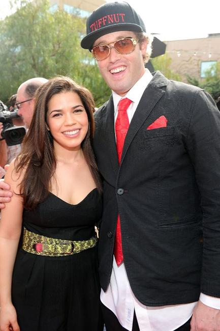 America Ferrera and T.J. Miller at the California premiere of