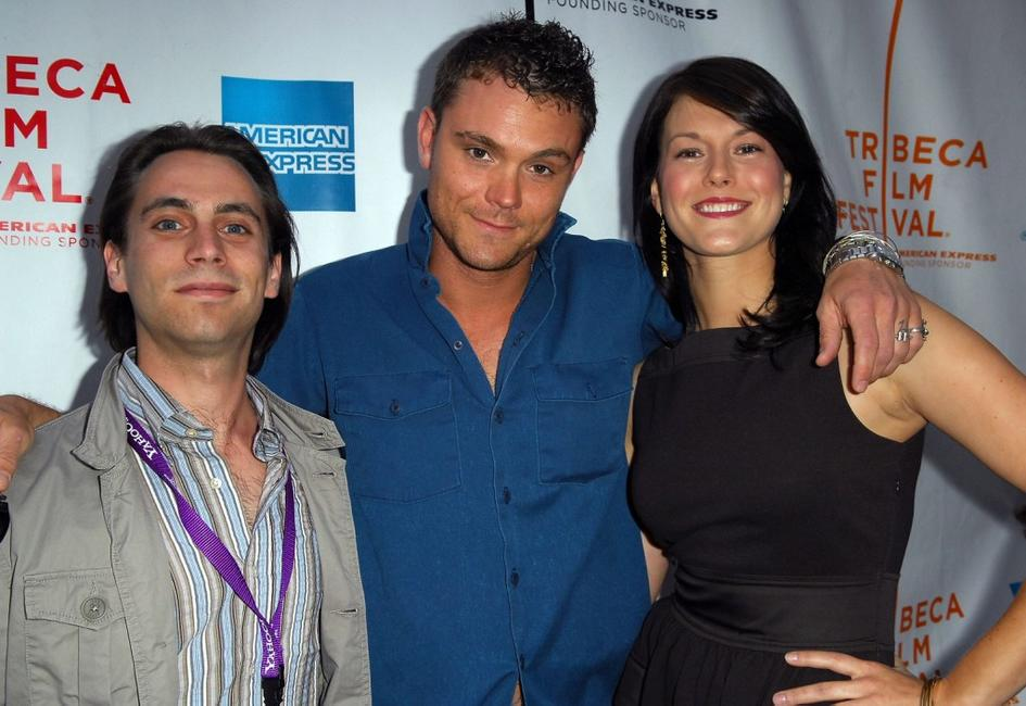 Jason Brown, Clayne Crawford and director Abigail Carpenter at the premiere of