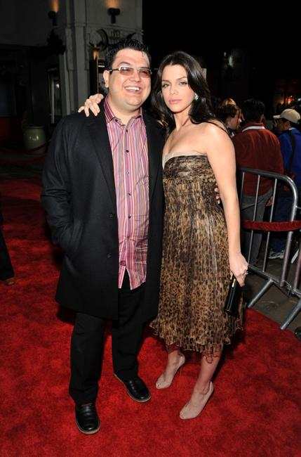 Alfredo De Villa and Vanessa Ferlito at the premiere of