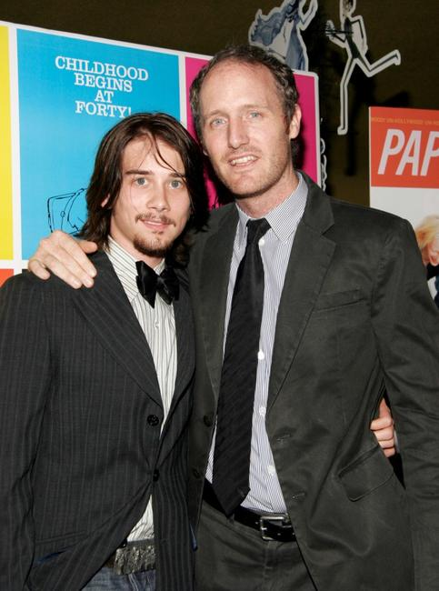 Lou Taylor Pucci and Mike Mills at the premiere of