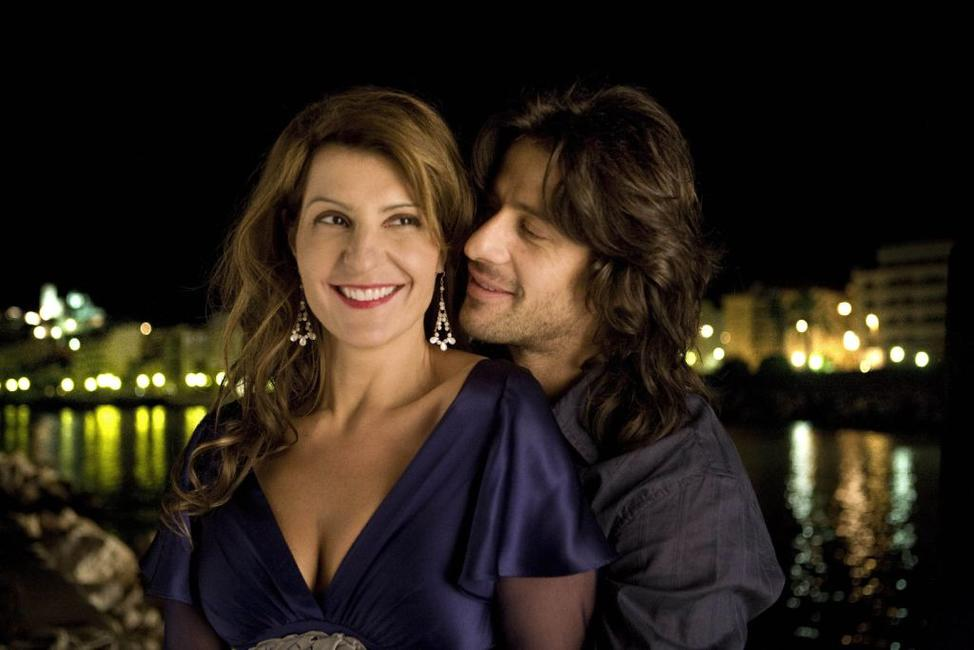 Nia Vardalos and Alexis Georgoulis in