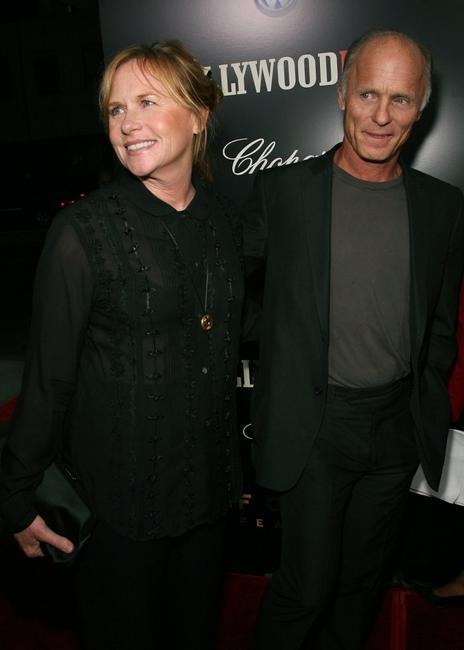 Ed Harris and Amy Madigan at the premeire of