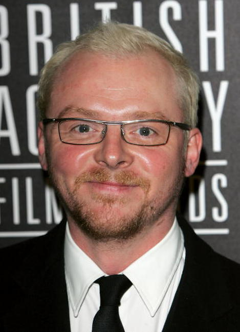 Simon Pegg at The Orange British Academy Film Awards in London, England.