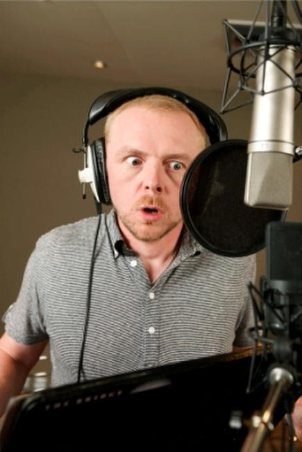 Simon Pegg voices the one-eyed weasel Buck in