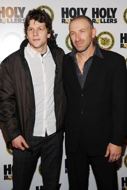 Jesse Eisenberg and Mark Ivanir at the New York premiere of