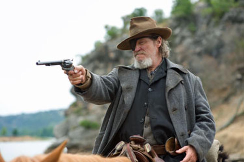 Jeff Bridges as Rooster Cogburn in