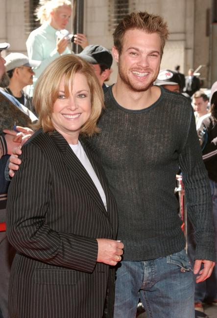 Catherine Hicks and George Stults at the WB Upfront at Madison Square Garden.