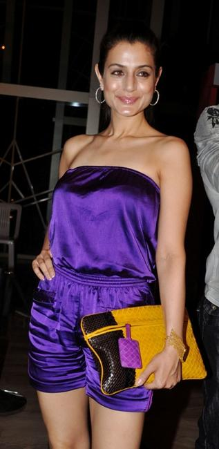 Amisha Patel at the Indian market launch of Italian fashion brand Diesel.