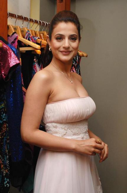 Amisha Patel at the store in Mumbai.