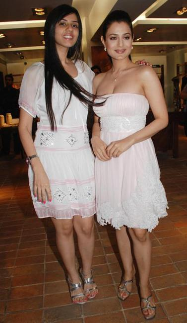 Nishka Lulla and Amisha Patel at the store in Mumbai.