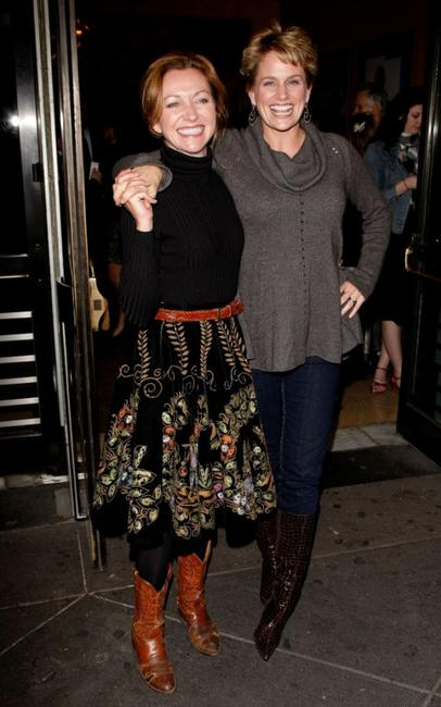 Julie White and Cady Huffman at the opening night of