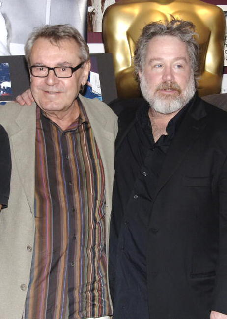 Tom Hulce and Milos Forman at the
