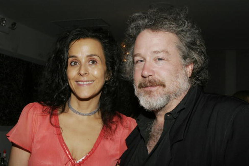 Tom Hulce and Deborah Grimberg at the opening night after party for