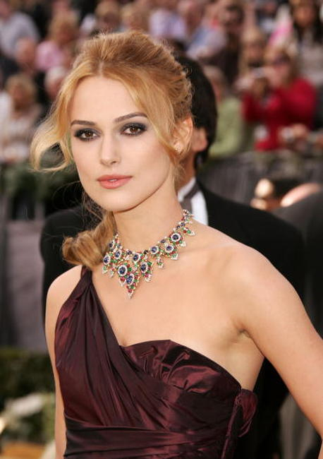 Keira Knightley at the 78th Annual Academy Awards.