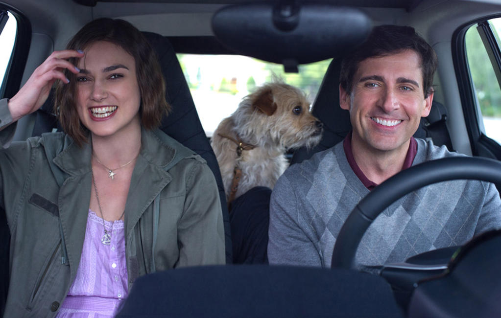 Keira Knightley as Penny and Steve Carell as Dodge in