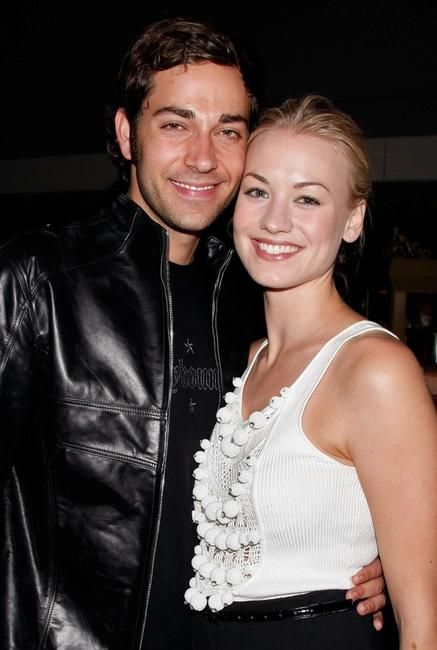 Zachary Levi and Yvonne Strahovski at the NBC Universal 2008 Press Tour All-Star Party.