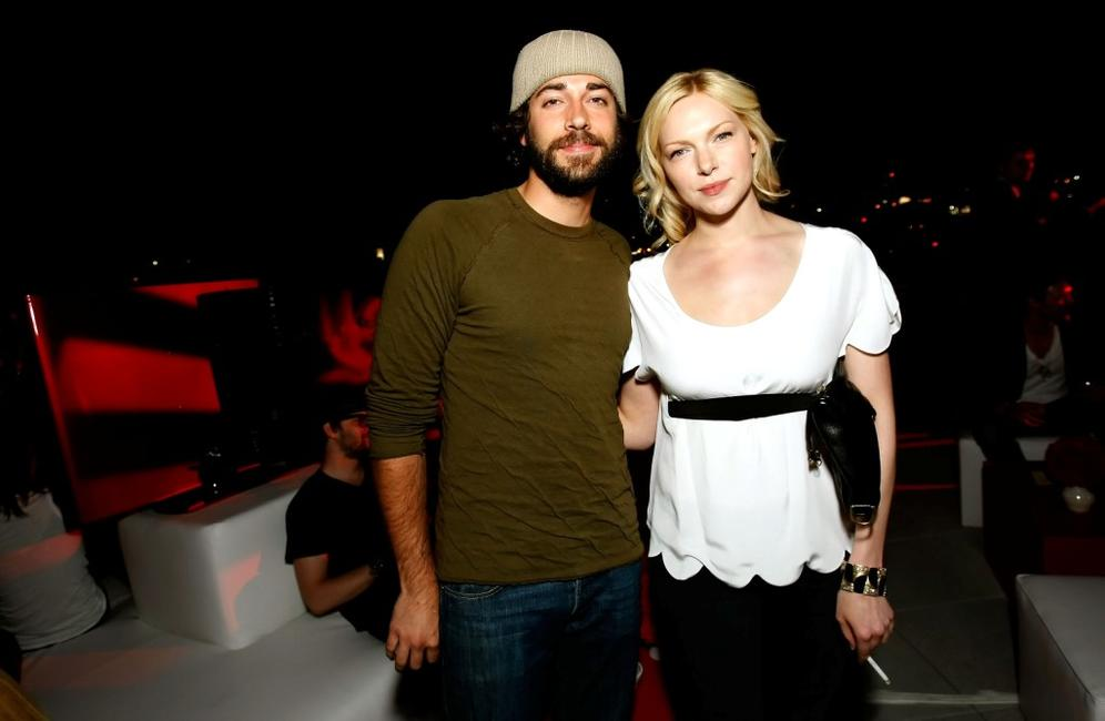 Zachary Levi and Laura Prepon at the reveal and launch party of LG Electronics' (LG) Scarlet HD TV series.
