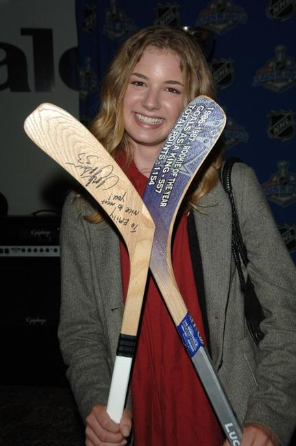 Emily VanCamp at the Stanley Cup Playoff Party.