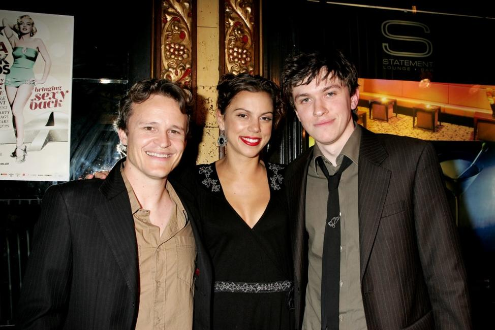 Damon Herriman, Holly Andrew and Abe Forsythe at the 2007 Movie Extra Filmink Awards.