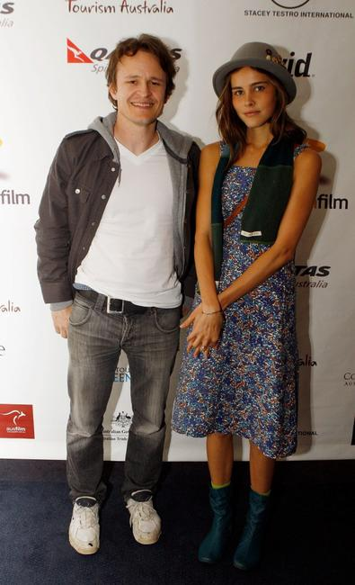 Damon Herriman and Isabelle Lucas at the screening of