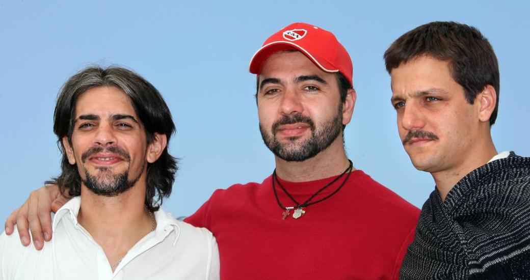 Pablo Echarri, Adrian Caetano and Rodrigo De la Serna at the photocall of