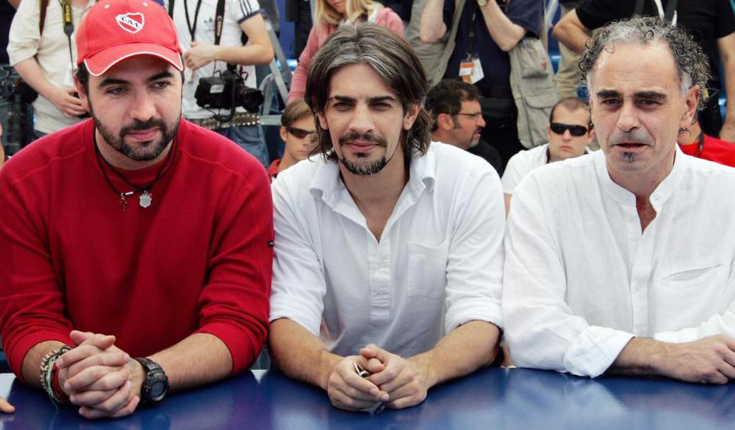 Adrian Caetano, Pablo Echarri and Guillermo Fernandez at the photocall of