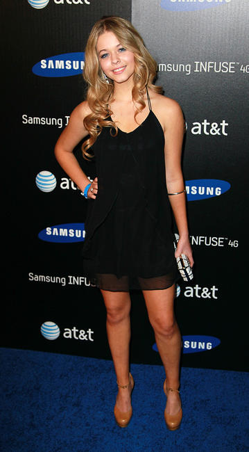 Sasha Pieterse at the Samsung Infuse 4G launch event in California.